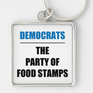 The Party of Food Stamps Keychain