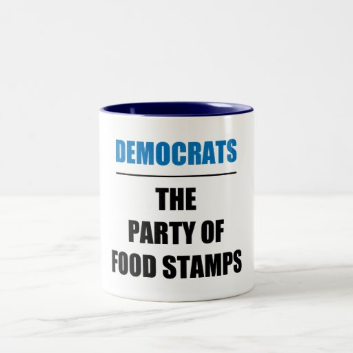 The Party of Food Stamps Two-Tone Coffee Mug