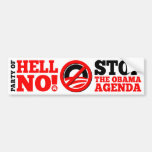 The Party of Hell No Car Bumper Sticker