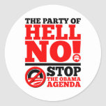 The Party of Hell No Classic Round Sticker