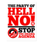 The Party of Hell No Postcard