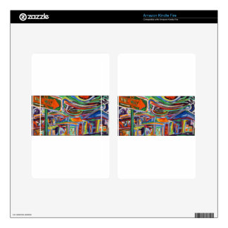 """""""The Paseo"""" Synesthesia Painting Kindle Fire Skin"""