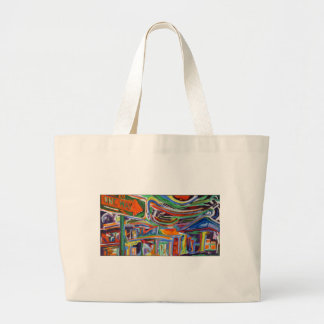 """The Paseo"" Synesthesia Painting Large Tote Bag"
