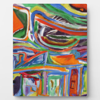 """""""The Paseo"""" Synesthesia Painting Plaque"""