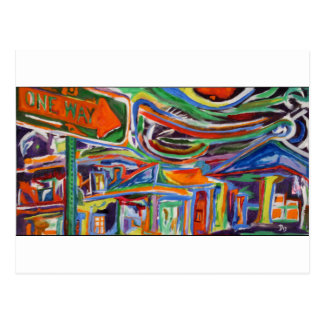 """""""The Paseo"""" Synesthesia Painting Postcard"""