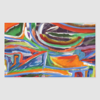 """The Paseo"" Synesthesia Painting Rectangular Sticker"