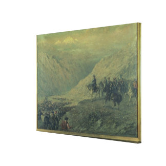 The Passage of the Andes in 1817 (oil on canvas) Canvas Print