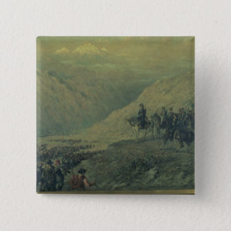 The Passage of the Andes in 1817 (oil on canvas) Pinback Button