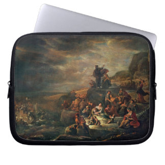 The Passage of the Red Sea (oil on canvas) Laptop Sleeve