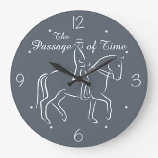 The passage of time dressage large clock