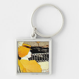 The Passenger in Cabin 54 Silver-Colored Square Keychain