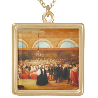 The Passing of the Great Emancipation Act, c.1829 Gold Plated Necklace