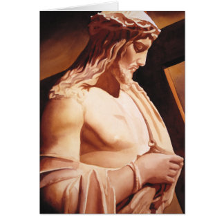 """""""The Passion"""" Jesus Watercolor Art Greeting Card"""