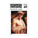 """The Passion"" Jesus Watercolor Art Postage Stamps"