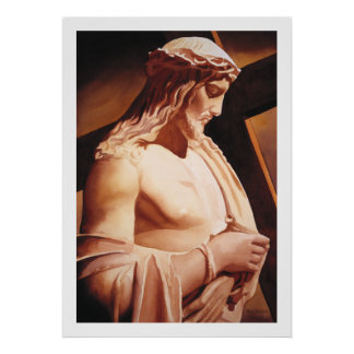 """The Passion"" Jesus Watercolor Art Poster"