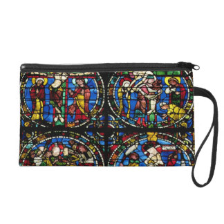 The Passion, lancet window in the west facade, 12t Wristlet Purse