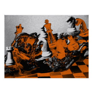 The passion of chess abstract photography poster