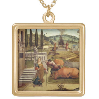 The Passions of Pasiphae wife of King Minos of Cr Personalized Necklace