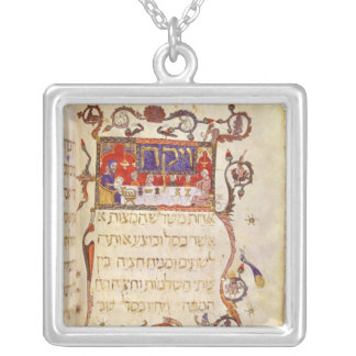 The Passover Meal, Northern Spain Square Pendant Necklace