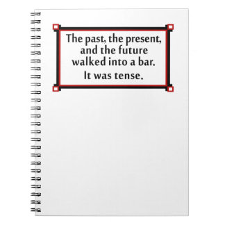 The past the present and the future spiral notebook