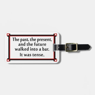 The past, the present, and the future tag for luggage