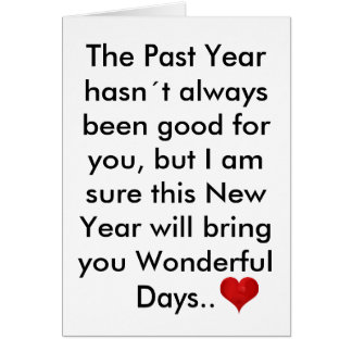 The Past Year Letter, Happy New Year Inspirational Card