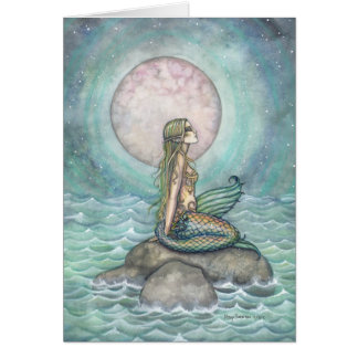 The Pastel Sea Fantasy Mermaid Art Card
