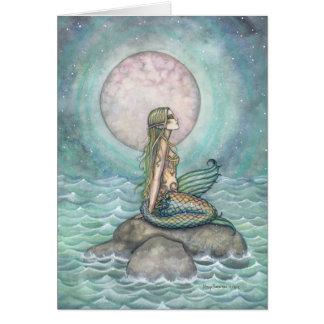 The Pastel Sea Fantasy Mermaid Art Greeting Card