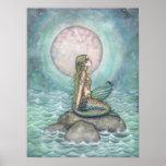 The Pastel Sea Mermaid Fantasy Watercolor Art Posters