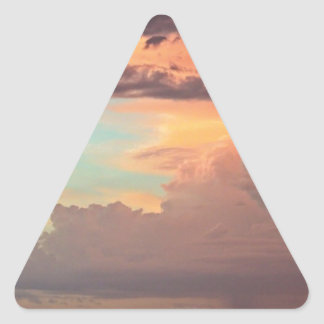 The Pastel Storm Triangle Sticker