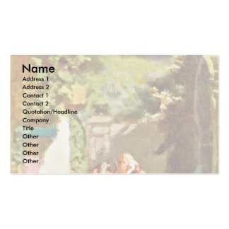 The Pastor As A Cactus Lovers By Spitzweg Carl Business Card Templates