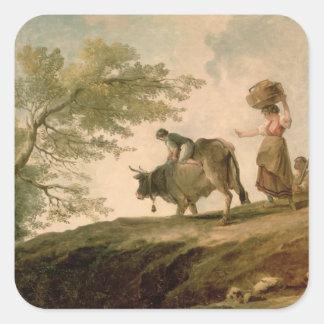The Pasture Square Sticker