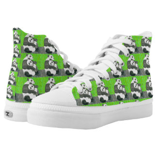 The Patchwork Panda Bears By Julia Hanna Printed Shoes