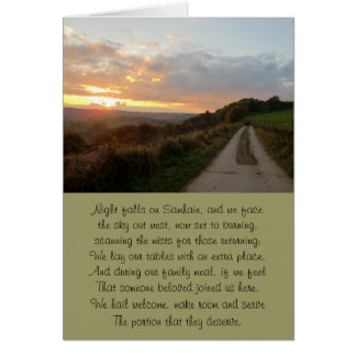The Path Home Samhain Sunset Card