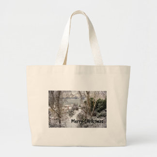 The Path in the Snow Large Tote Bag