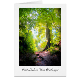 The path is steepest... Luck on Your Challenge Greeting Card
