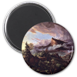 The Path Of Empire: The Original State By Cole Tho 2 Inch Round Magnet