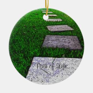 The Path of Life Ceramic Ornament