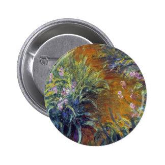 The Path Through the Irises by Claude Monet Button