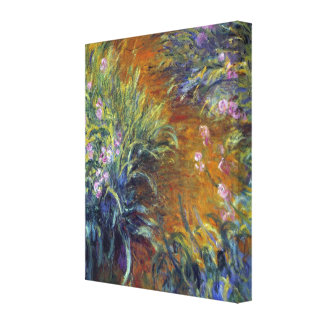 The Path Through the Irises by Claude Monet Stretched Canvas Print
