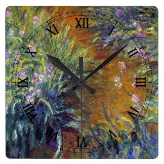 The Path Through the Irises by Claude Monet Clocks