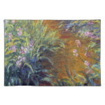 The Path Through the Irises by Claude Monet Cloth Placemat
