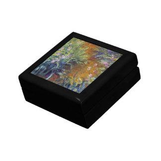 The Path Through the Irises by Claude Monet Keepsake Box