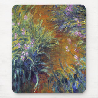 The Path Through the Irises by Claude Monet Mouse Pad