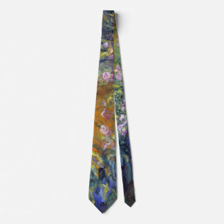 The Path Through the Irises by Claude Monet Neck Tie