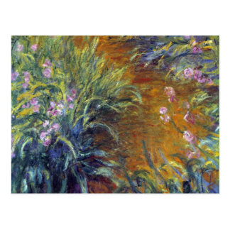 The Path Through the Irises by Claude Monet Post Cards
