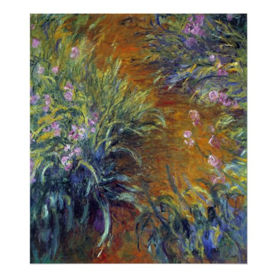 The Path Through the Irises by Claude Monet Poster