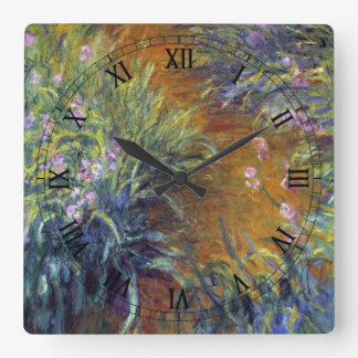 The Path Through the Irises by Claude Monet Square Wall Clock