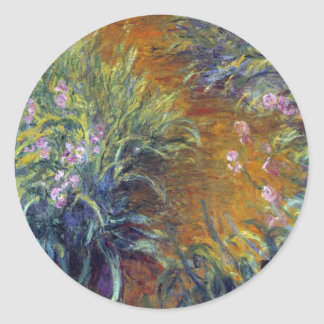 The Path Through the Irises by Claude Monet Round Sticker