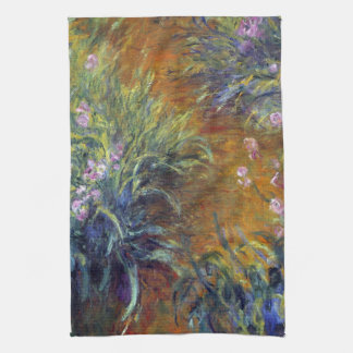 The Path Through the Irises by Claude Monet Towels